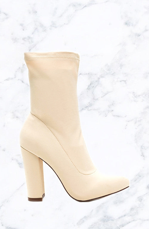 Get It Girl Booties - Cream