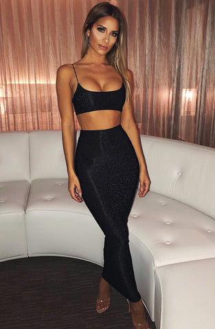 Dani Skirt - Black Sparkle
