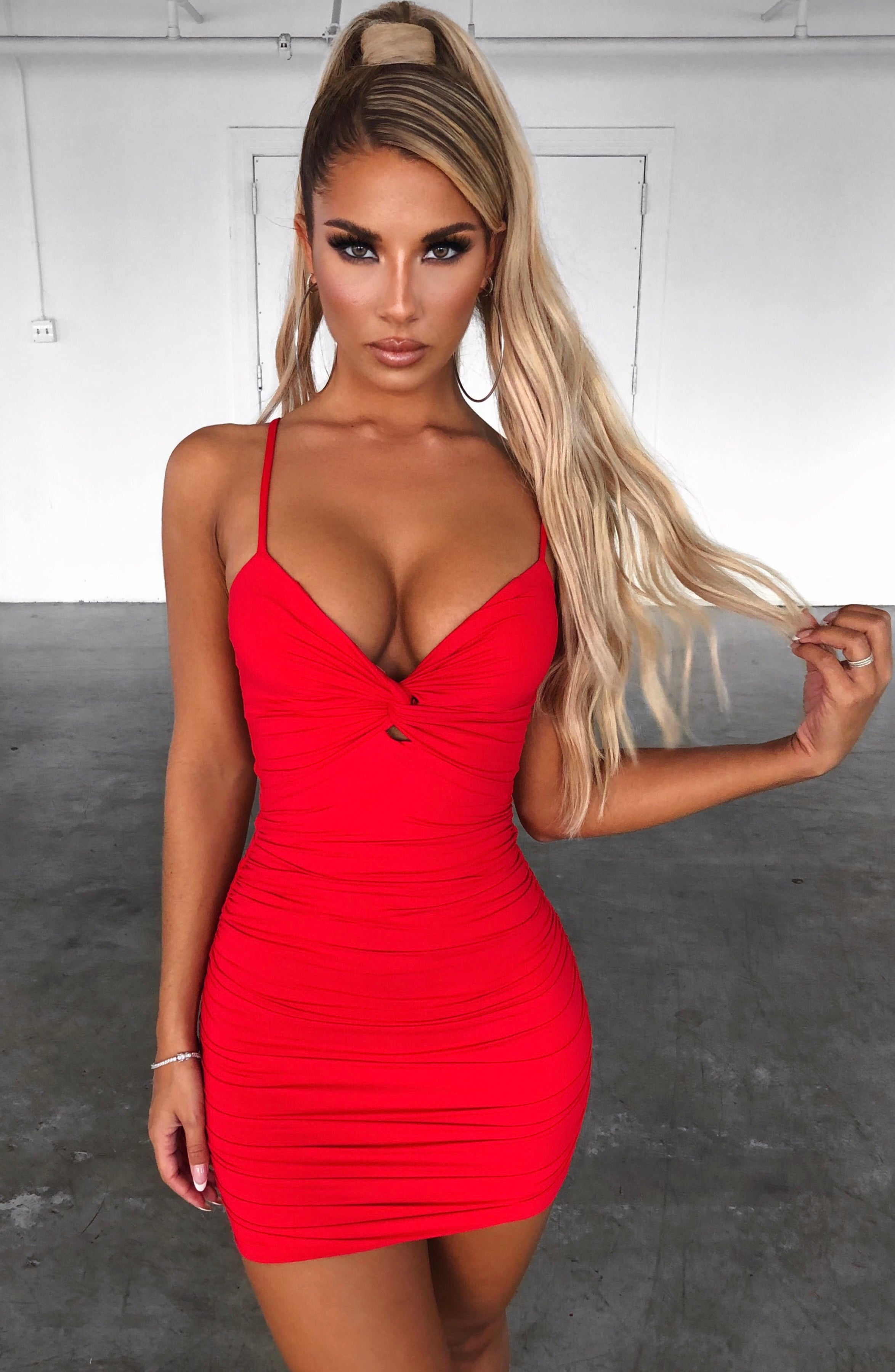 Savannah Mini Dress - Red