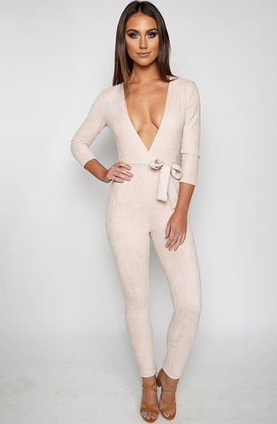 Gratitude Jumpsuit - Light Dusty Pink