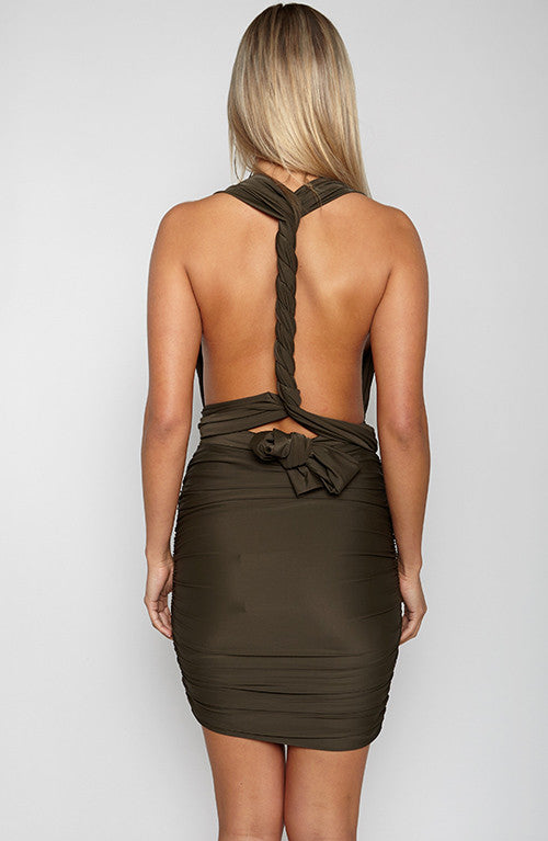 Hold Off Dress - Khaki