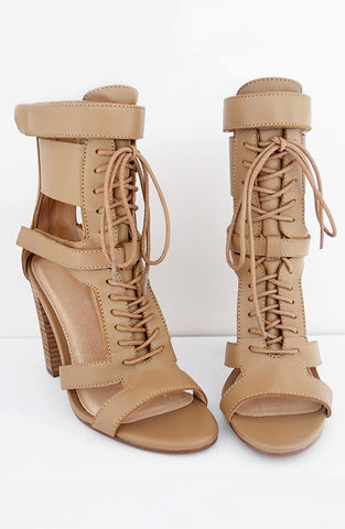 Flawn It Girl Heels - Tan