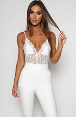 Hot Dam Lingerie Onepiece - White