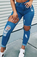 Honey Crush Jeans - Blue Denim