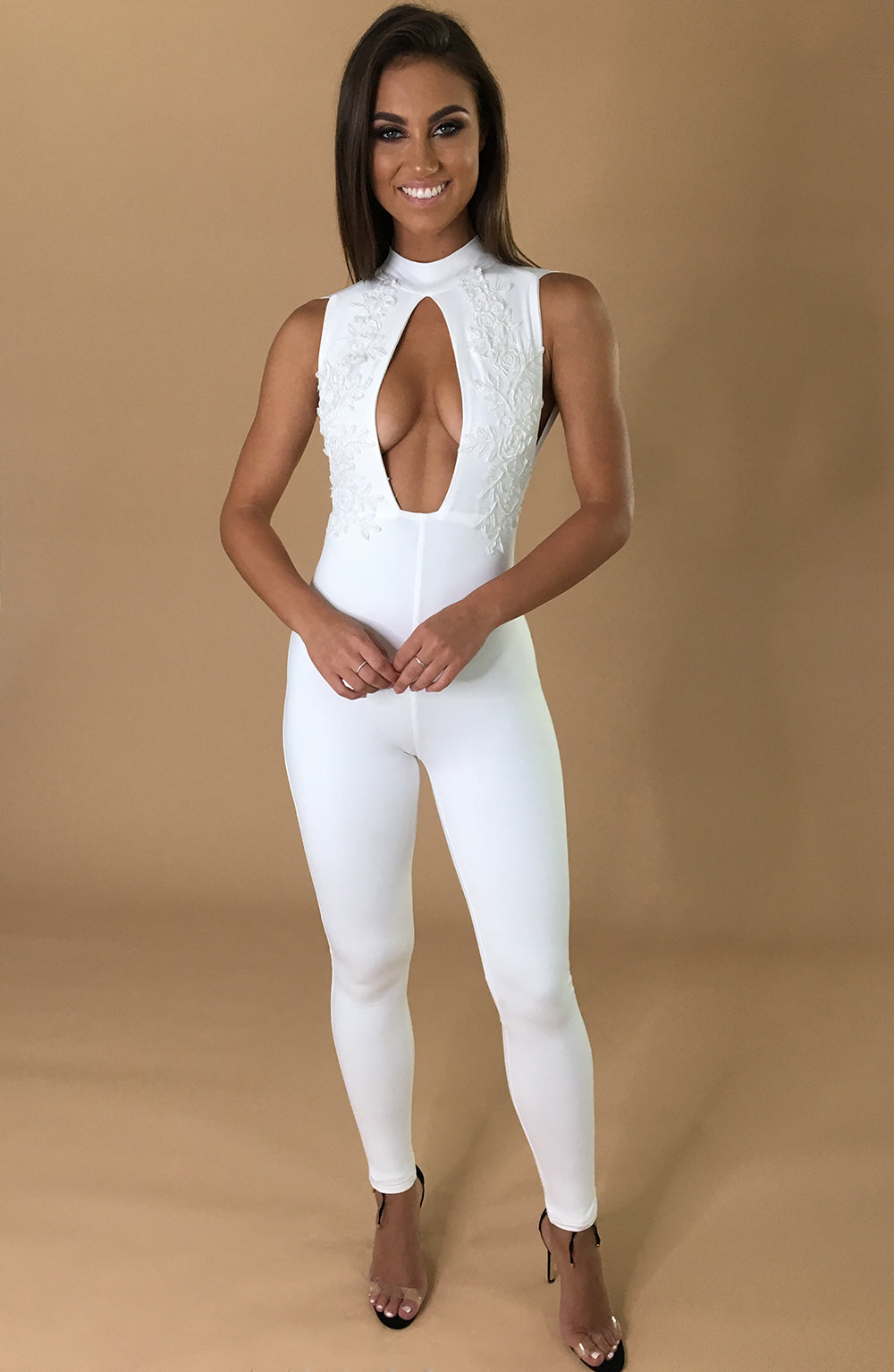 Take It Or Leave It Jumpsuit - White