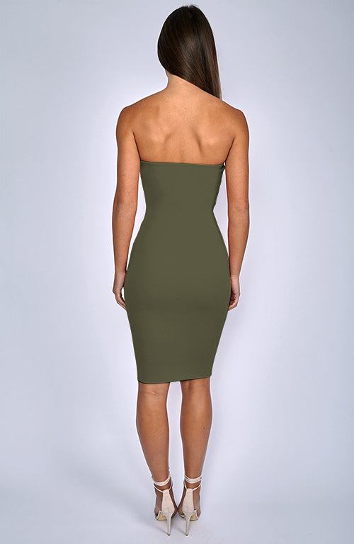 Zaria Dress - Khaki