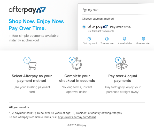 afterpay details