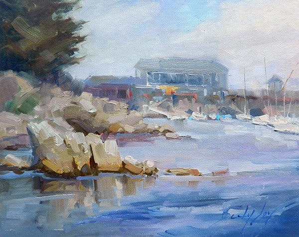 Painting at Fisherman's Wharf in Monterey