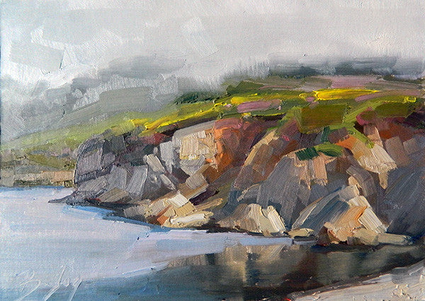 Reflection Plein Air oil painting in Carmel