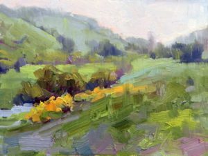 Along the Creek Plein air painting