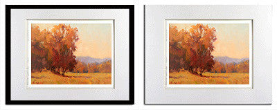 fall colored trees matted prints for sale