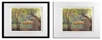 Garden matted & framed giclee print for sale