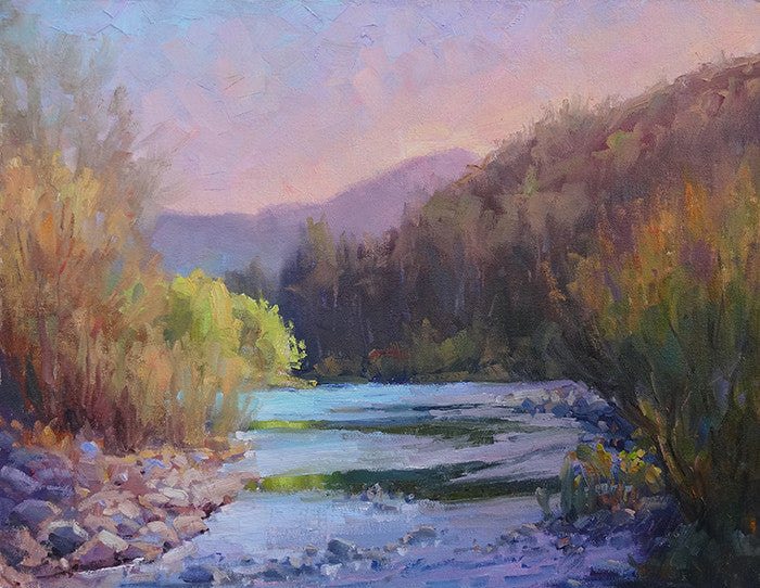 Afternoon on the River Landscape Oil Painting