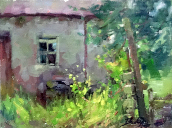 Irish Ruins Plein Air Oil Painting