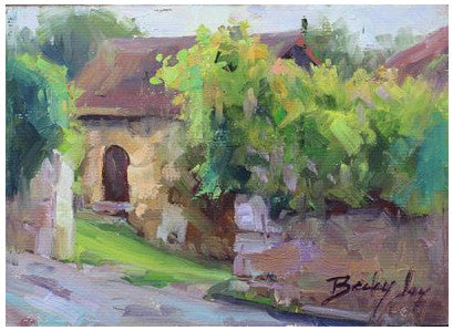 Villers-Saint-Sépulcre, Picardy,  France, French Cottage Matted Print
