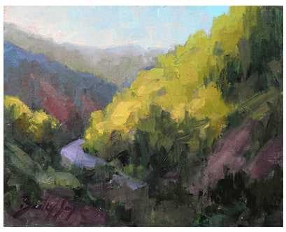 Canyon at the Whiskeytown Recreation Area - Landscape Oil Painting