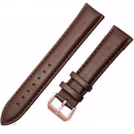 Genuine Leather Watch Strap - Brown, Band Width - 24mm