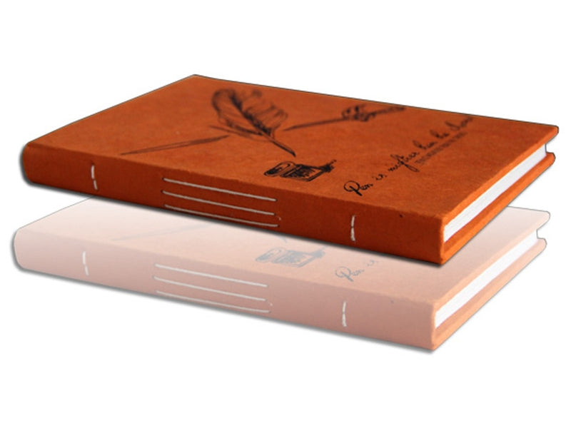 Monk Paper Tangerine Lokta Quotation Journal