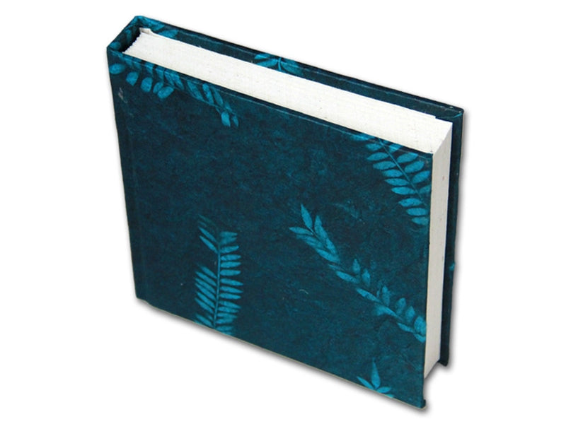 Monk Paper Veg Dyed Fern Leaf Teal Lokta Hard Cover Notebook