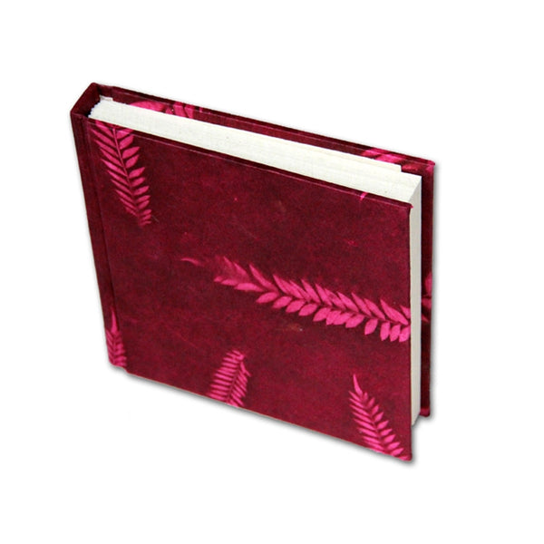 Monk Paper Veg Dyed Fern Leaf Fuchsia Lokta Hard Cover Notebook