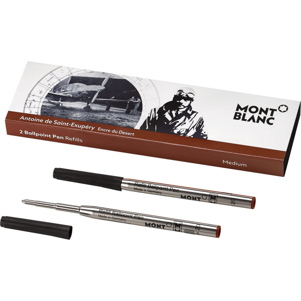 Montblanc Writers Edition Antoine de St. Exupery Ballpoint Refill - Medium - 2 Pack
