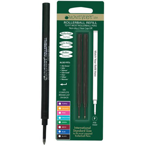 Monteverde Rollerball to fit most Capped Rollerball pens - Pink 2/pack