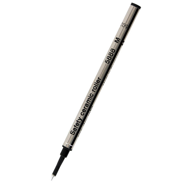 Schmidt Black Medium with Metal Tube Rollerball Refill-Medium
