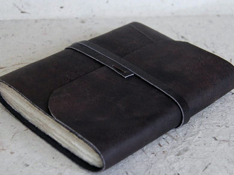 Monk Paper Buffalo Leather Extra Large Lokta Journal with Box