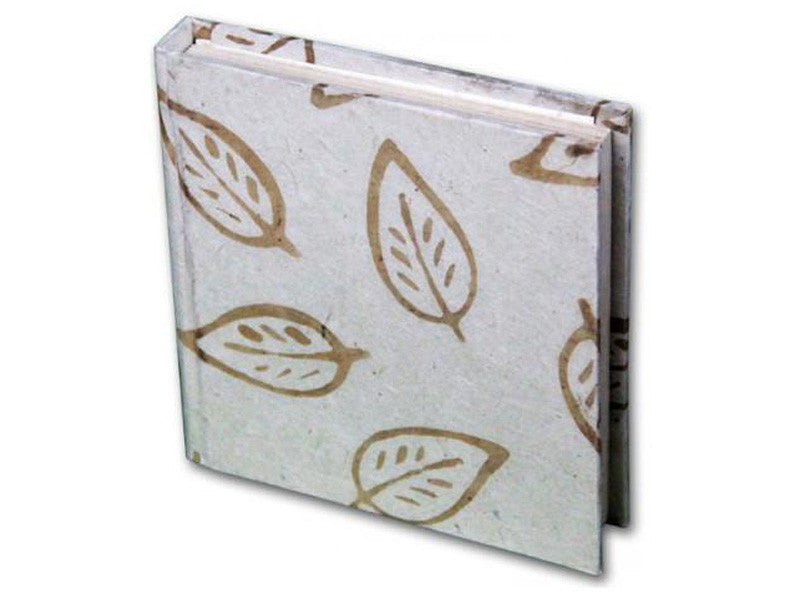 Monk Paper Batik Leaf Natural Lokta Hard Cover Notebook