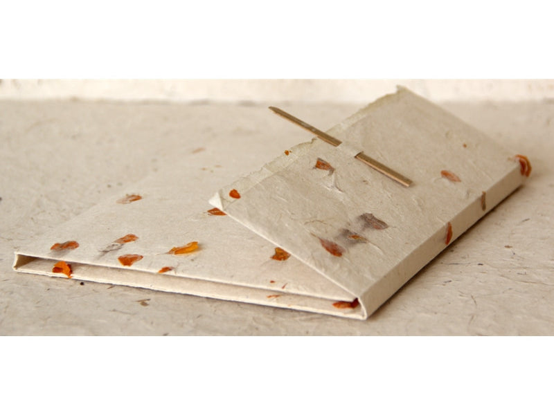 Monk Paper Marigold Petal Lokta Stationery Writing Set