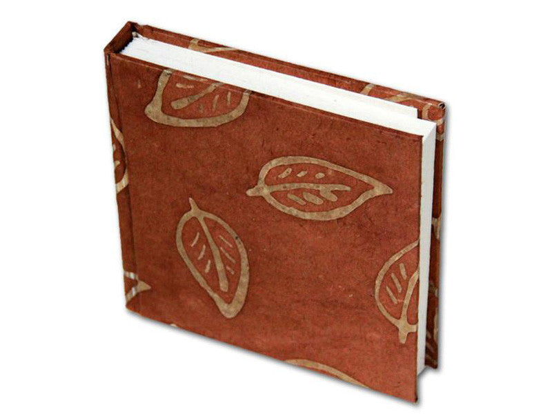 Monk Paper Batik Leaf Teracotta Lokta Hard Cover Notebook