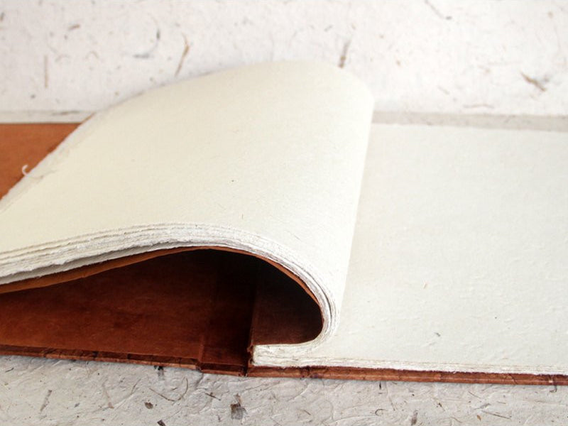 Monk Paper Leather Hard Cover Lokta Scrap Book