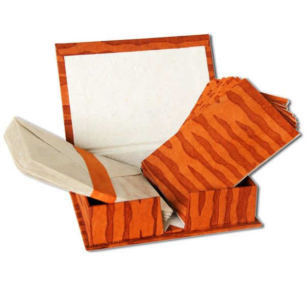 Monk Paper Tiger Pattern Boxed Lokta Notelet Set