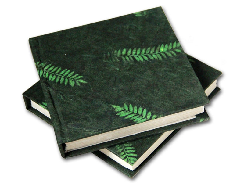 Monk Paper Veg Dyed Fern Leaf Green Lokta Hard Cover Notebook