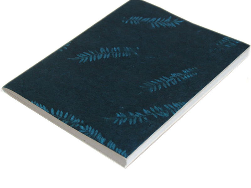 Monk Paper Veg Dyed Green Leaf Teal A4 Size Soft Cover Lokta Sketch Book