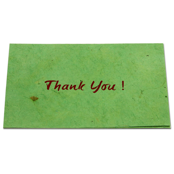 Monk Paper Thank You Note with Green Envelope - Red Letter