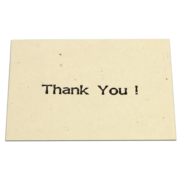Monk Paper Thank You Note with Natural Envelope - Black Letter