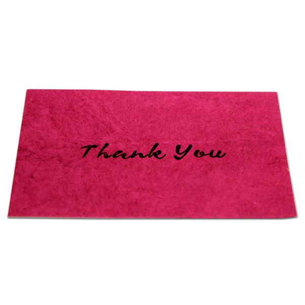 Monk Paper Thank You Note with Pink Envelope - Black Letter