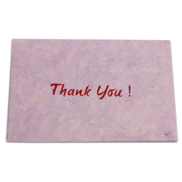 Monk Paper Thank You Note with Envelope Purple with Red Letter 10 Pack