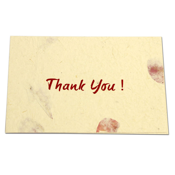 Monk Paper Thank You Note with Envelope Rose Petal Red Letter 10 Pack