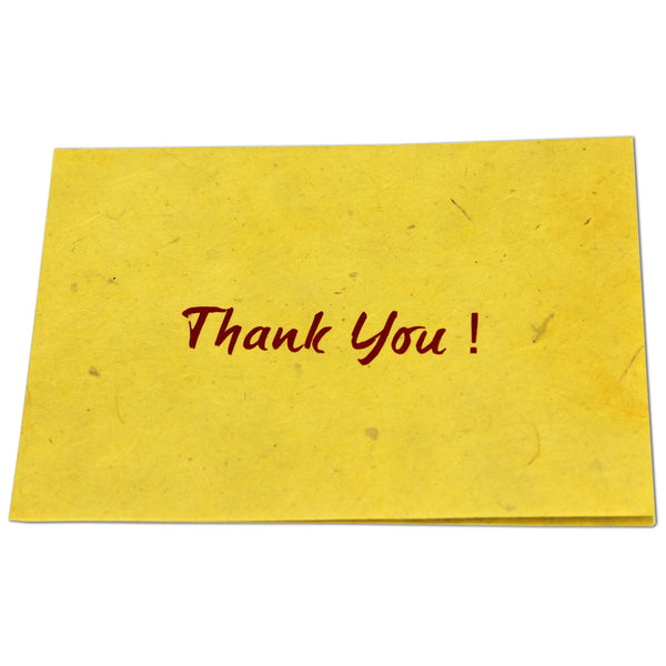 Monk Paper Thank you Note with Yellow Envelope - Red Letter