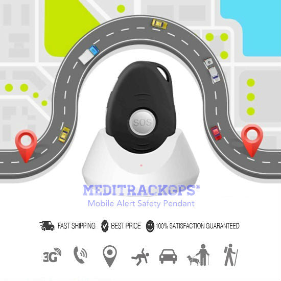 MediTrackGPS® Personal Alarm for Seniors | Senior Alert Pendant with SOS