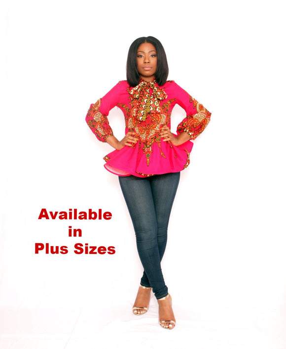 ALIKA Fuchsia Blouse PLUS SIZE