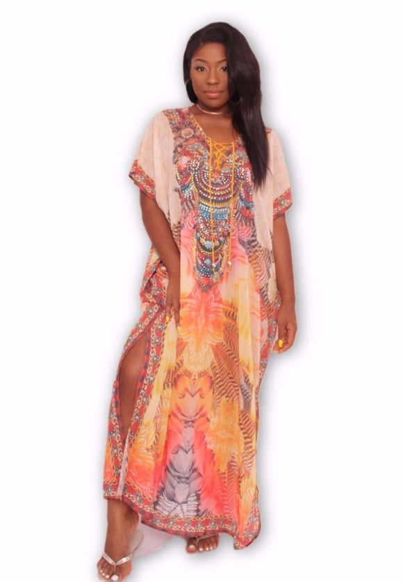 EARTHY Maxi Kaftan Dress