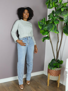 BOTTOM SLIT High Rise Jeans