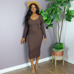 TRACY Dress in Chocolate