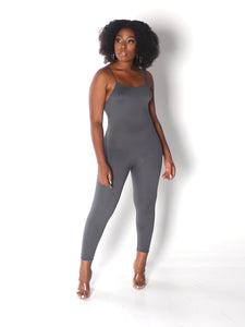 CAMI Spaguetti Straps Jumpsuit in Grey