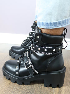 STARGATE Chained up Combat Boots