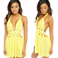 FLORA Chiffon Dress in YELLOW