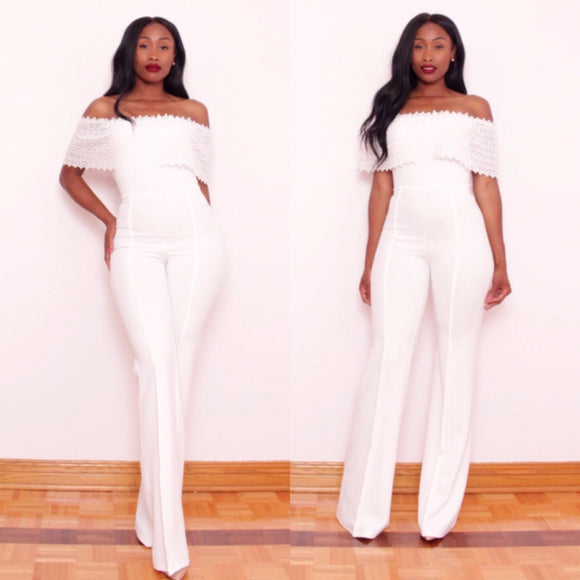 LACEY Jumpsuit WHITE